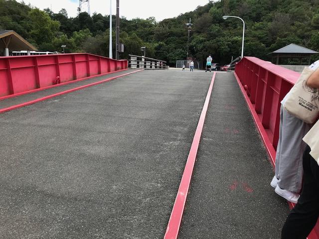 大久野島の赤色の桟橋